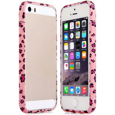 Frame Style Footprint Pattern PC Bumper Case for iPhone 5 5S