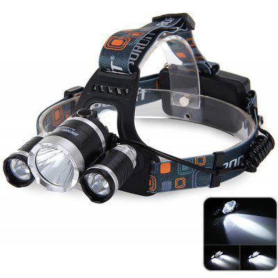 Boruit RJ3000 Supper Bright 3 x CREE XML T6 LED Headlamp 3800LM for Outdoor
