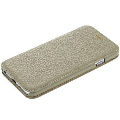 Rock 4.7 inch Genuine Leather Phone Cover Lichee Vein Pattern Back Case Skin for iPhone 6