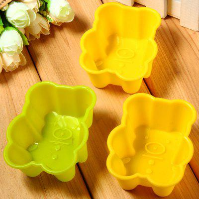 3pcs Bear Pattern Fondant Cake Decoration Sugar Craft Silicone Baking Mold