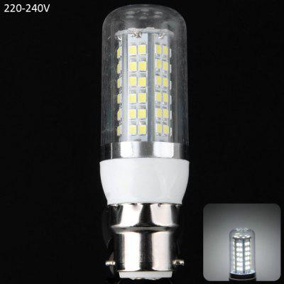 B22 18W 80 x SMD 2835 1650LM White Light LED Corn Bulb with Clear Cover 6000  -  6500K
