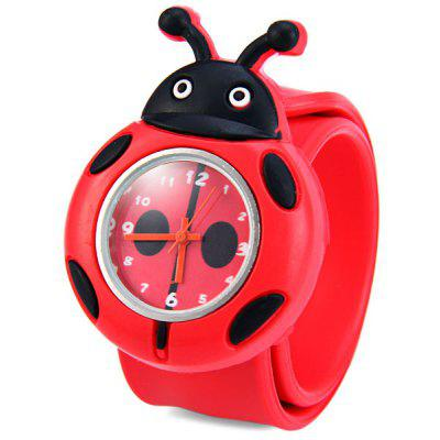 Children Quartz Pat Watch Rubber Strap with Cartoon Pattern