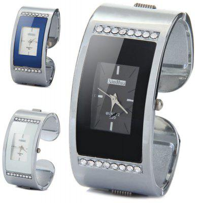 XinHua 520 Female Diamond Quartz Watch Bracelet Alloy Dial Rectangle Band