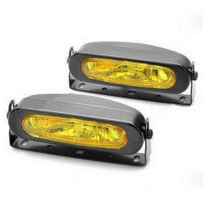 2PCS H3 Halogen Bulbs 55W DC 9  -  16V 1000LM 3000K Yellow Light Car Fog Lamp
