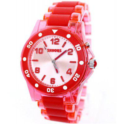 Shhors Sports LED Watch 30M Water Resistant Wristwatch with Colorful Light