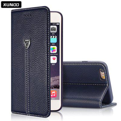 Xundd Classic 5.5 inch PU Phone Cover Protector Back Case Skin with Stand Card Holder Function for iPhone 6 Plus