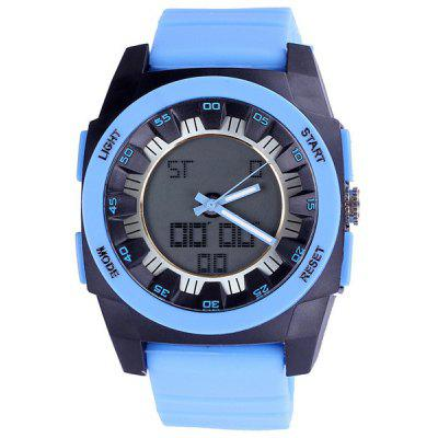 Shhors Analog Digital Watch Double Display Water Resistant Multifunction for Sports