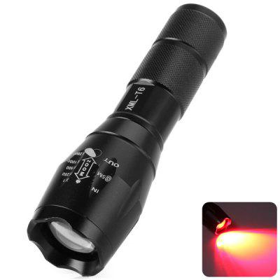 UltraFire A100 620  -  630nm Cree XML T6 Adjustable Focus Red Light LED Flashlight ( 1 x 18650 Battery )