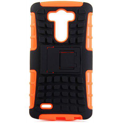 Practical Tyre Texture TPU and PC Back Case Cover with Stand for LG Optimus G3