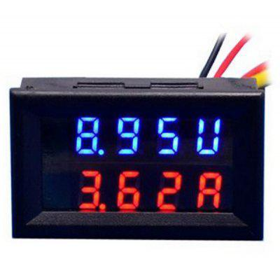 DIY Practical Dual 0.28 inch 3 Digit Red Blue LED Display Voltage Current Meter ( DC 0  -  100V / 50A )