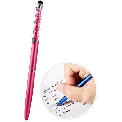 2 in 1 Fashionable Touch Screen Crystal Style Stylus Pen with Ball - pen