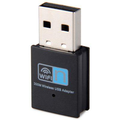 High Security 300Mbps Mini USB2.0 Wireless Network Card WiFi Converter for Home Office