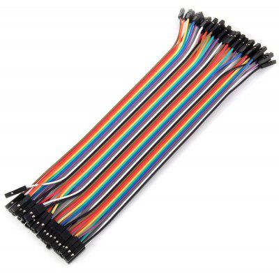 Dupont Femmina a Femmina Femmina Jumper Cable Fili Bundle Kit per Arduino fai da te 40pcs / Bundle
