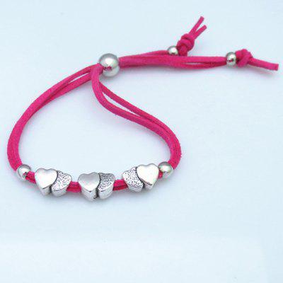 Chic Solid Color 3 Heart Shape Women's Bracelet