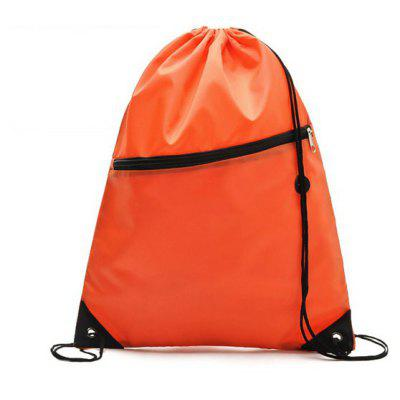 Practical Drawstring Bag Pack Water Resistant Outdoor Drift Camping Hiking Fishing Backpack