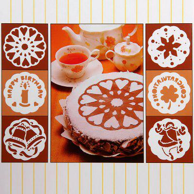 6pcs / Kit Cake Stencil Printing Sieve Mould Decoration Baking Supplies