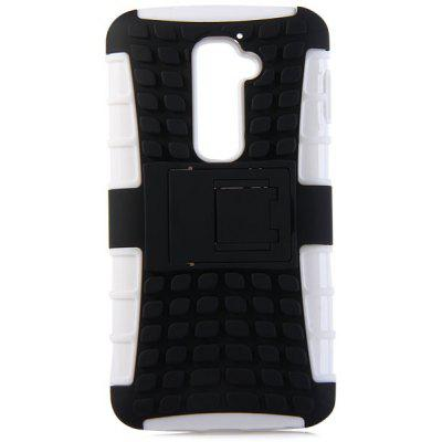 Practical Tyre Texture TPU and PC Back Case Cover with Stand for LG Optimus G2