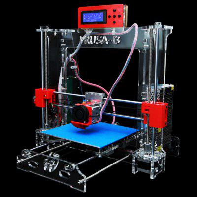 P802 Practical Prusa Mendel i3 LCD Display 3D Printer DIY Desktop Starter Bundle Kits Support Windows XP 7 Mac  -  ( US Plug AC 100  -  240V )