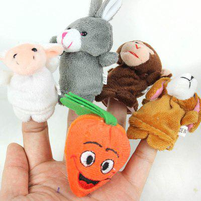 5pcs Stylish Plush Toy Finger Puppets for Telling Story Supplies Carrot Dog Sheep Monkey Rabbit Plush Doll ( 7  -  10cm )