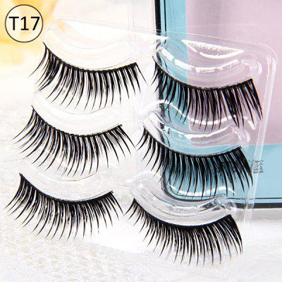 3 Pairs Shidi Shangpin False Eyelash Makeup for Women  -  Type T17