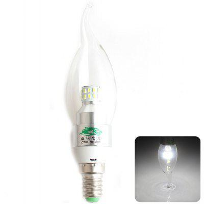 Buy COOL WHITE Zweihnder SMD 3014x30 LEDs E14 3W Tail drawing Bulb White Light 280 Lumens Candle Light for $1.42 in GearBest store