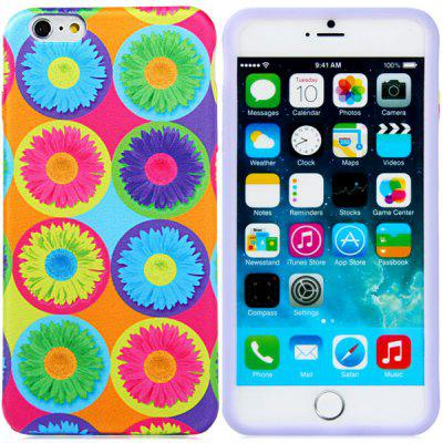 Novelty Sunflower Pattern Silicone and Cloth Back Case Cover for iPhone 6 Plus  -  5.5 inches