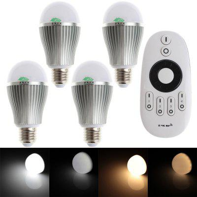 Set of 4 Zweihnder 9W E27 800LM Wireless IR Adjustable Color Globe Bulb (Remote Controller Included 3000 - 6000K)