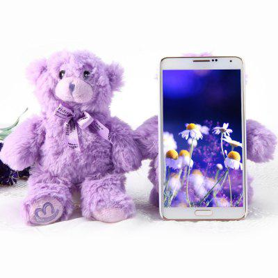Novelty PC Material Rotatable Lavender Bear Back Cover Case for Samsung Galaxy Note3 N9000