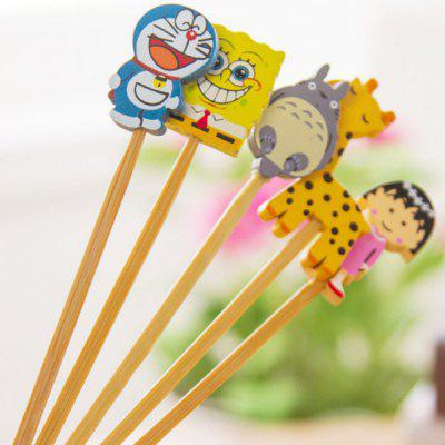 Creative Spongebob Totoro Chibi Maruko Wooden Cartoon Ear Pick Cleaning Tool  -  1 Piece
