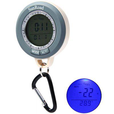 SR108N Mini LCD Digital Altimeter Compass Barometer Thermometer Outdoor Fishing Climbing Gadget with  IPX4 Water Resistant Function
