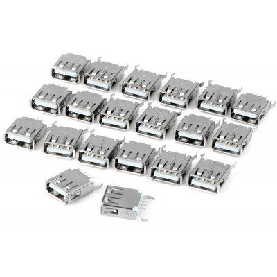 Multifunctional USB A Type Female 180 Degree DIP Plugs ( DC 30V 1.5A ) for Electronic DIY  -  20PCS