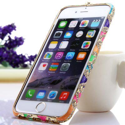 Fashionable Metal Bumper Frame Case of Diamond Design for iPhone 6  -  4.7 inches