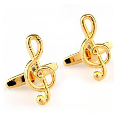 Pair of Chic Musical Note Shape Alloy Cufflinks For Men