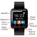U+Watch BW01 Bluetooth 2.1 Smart Watch Dialer Music Altimeter