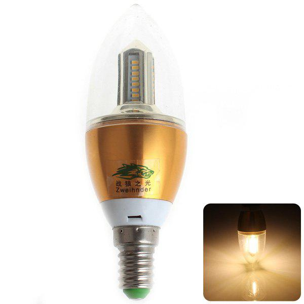 WARM WHITE Zweihnder SMD 3014x32 LEDs E14 4W Flamed Bulb Warm White 380 Lumens Candle Light