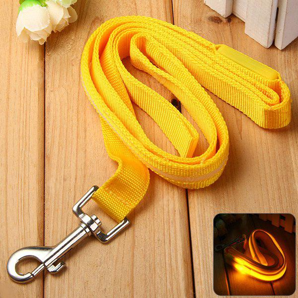 Cat Dog Pet Leash de Segurança Collar LED piscando Transportando Belt Cabo