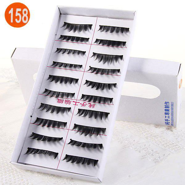10 Pairs Three Tree Manual False Eyelash Makeup for Women - Type 158