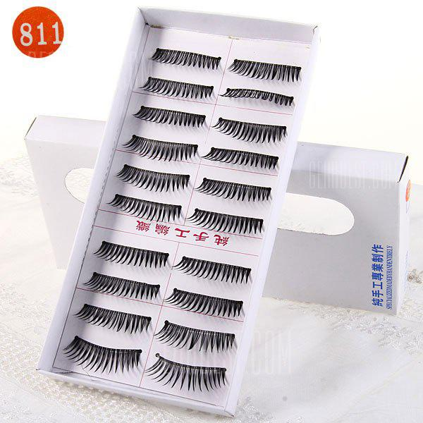 10 Pairs Three Tree Manual False Eyelash Makeup for Women - Type 811