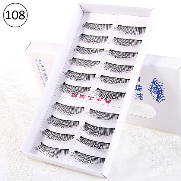 10 Pairs Three Tree Manual Thick False Eyelash Makeup for Women - Type 108