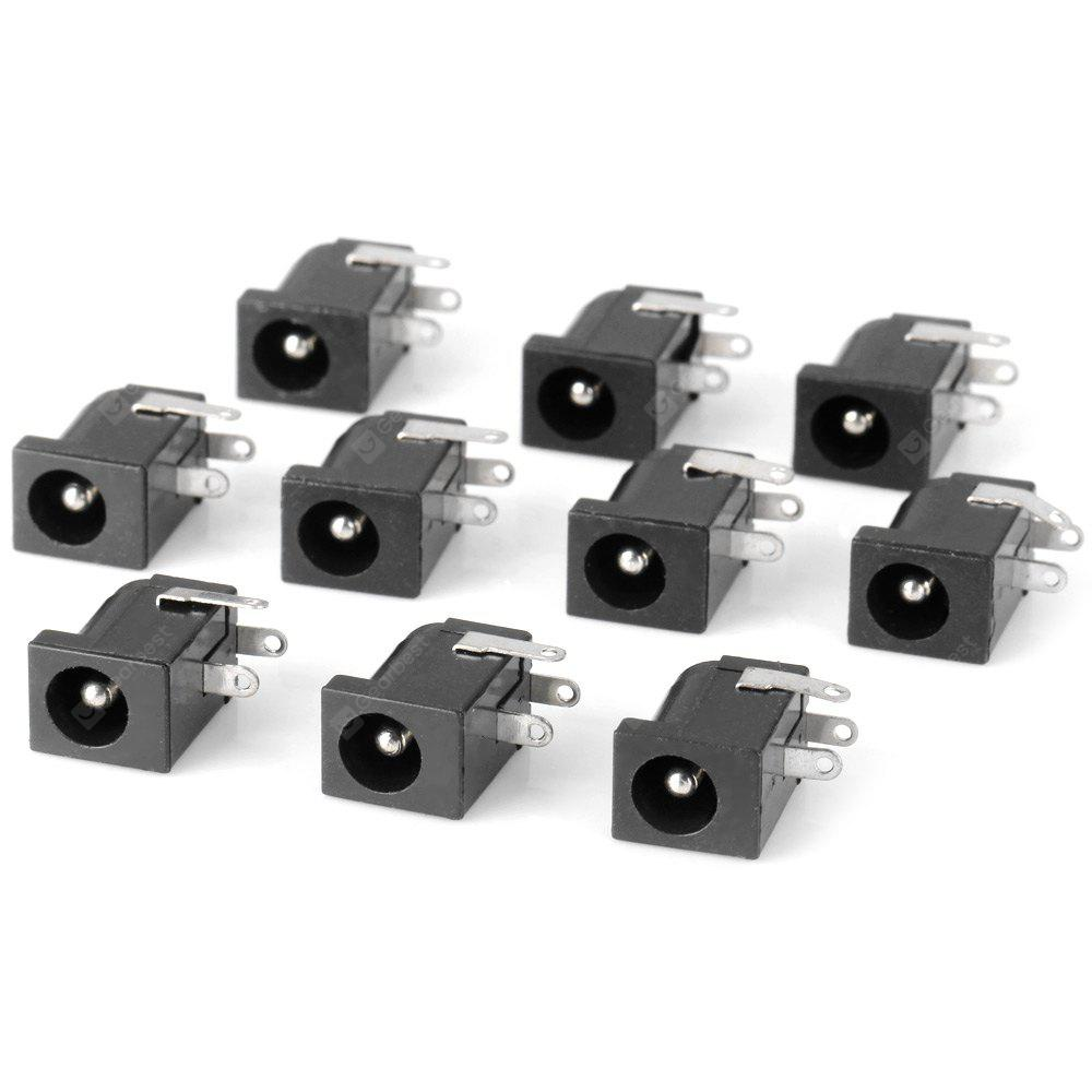 BLACK Practical 2.5mm DC Power Jack Connector  (DC 30V 0.3A ) for DIY Project 10PCS