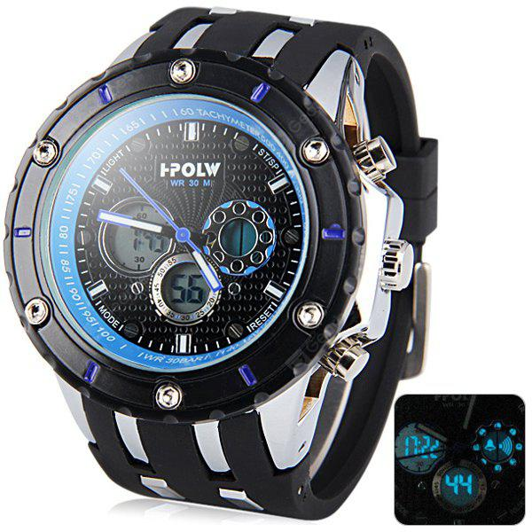 Hpolw 592 Military Led Sports Watch Dual Time Alarm