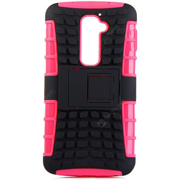 ROSE MADDER Practical Tyre Texture TPU and PC Back Case Cover with Stand for LG Optimus G2