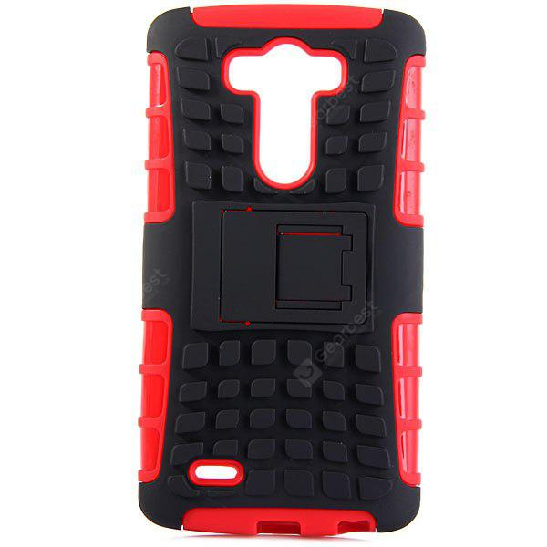 RED Practical Tyre Texture TPU and PC Back Case Cover with Stand for LG Optimus G3