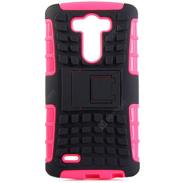 ROSE MADDER Practical Tyre Texture TPU and PC Back Case Cover with Stand for LG Optimus G3
