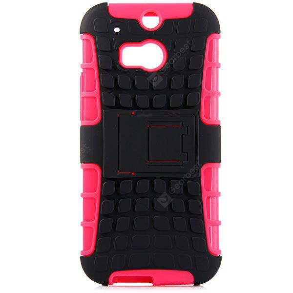 ROSE MADDER Practical Tyre Texture TPU and PC Back Case Cover with Stand for HTC M8