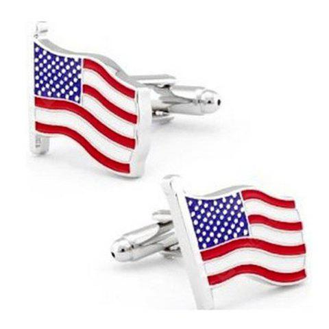 Buy Pair Chic Striped Splicing Design Alloy Cufflinks Men COLORMIX