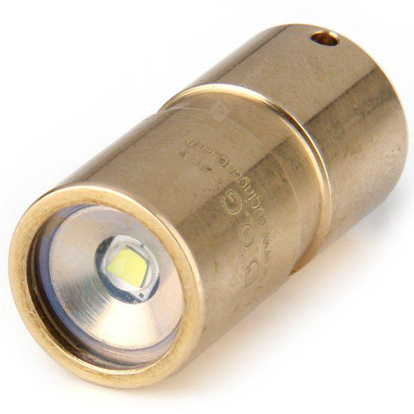 DQG Fairy 10180 Cree XP G2 R5 4C 4500K Mini Brass Water Resistant LED Flashlight  -  120Lm 2 Modes 1 x 10180 Battery