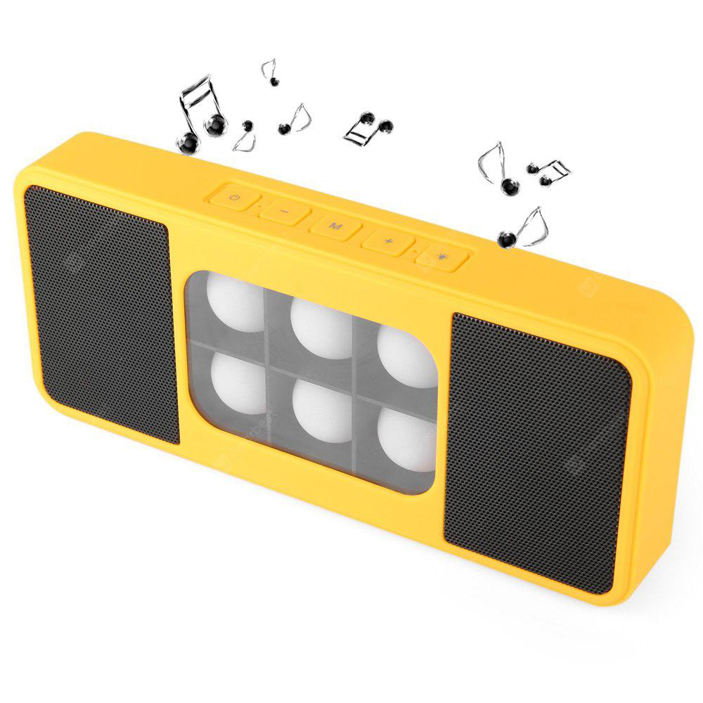 YELLOW 7200 6 Shining LED Lights Bluetooth 3.0 Stereo Speaker Support TF Card Volume Control