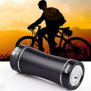 Pindo S16 Mini Bicycle Speaker TF Card Bike MP3 Music Player FM Radio BLACK