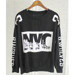 Fashionable Jewel Neck Letter Print Long Sleeve Women's Sweatshirt photo